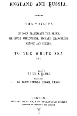 1854 England and Russia - The Voyages of - to the White Sea