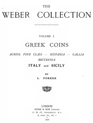 1922 Forrer - Greek Coins