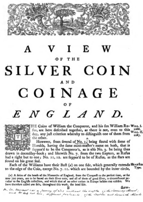 Silver Coin and Coinage of England