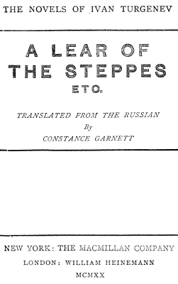 Turgeniev - A lear of the steppes
