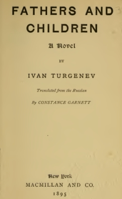 Turgeniev - Fathers and Children